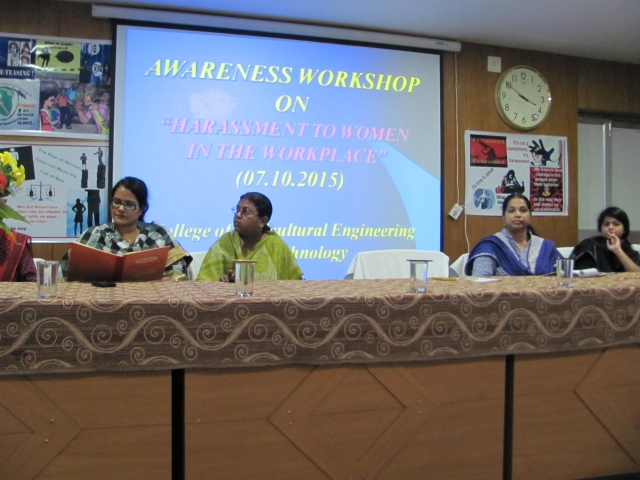 "Awareness Workshop On ""HARASSMENT TO WOMEN IN THE WORKPLACE"""